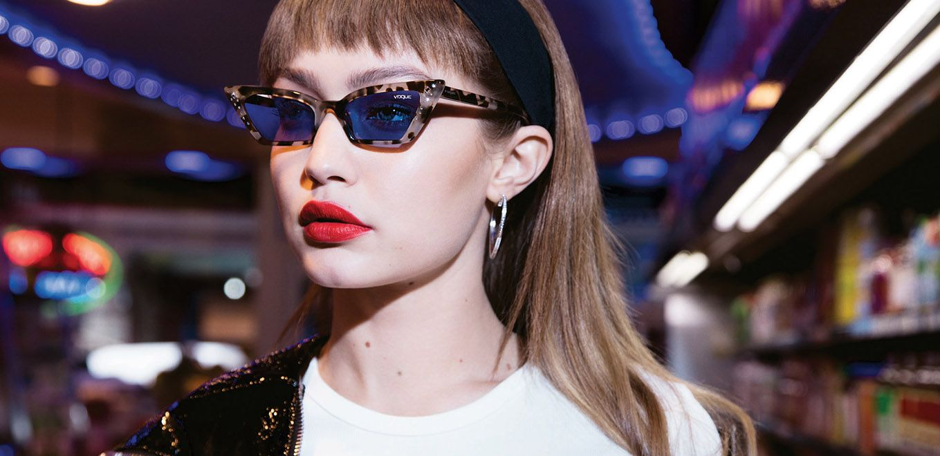 8f818bce6 Check out all the hot, trendy styles from the Gigi Hadid x Vogue Eyewear  2019 Collection.
