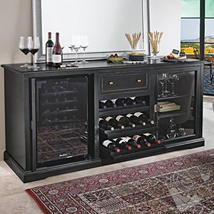 Siena Wine Credenza - Nero