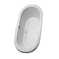 "Nexus® 6' Soaker Bathtub 71-3/8"" x 35-7/8"" x 23-13/16"""