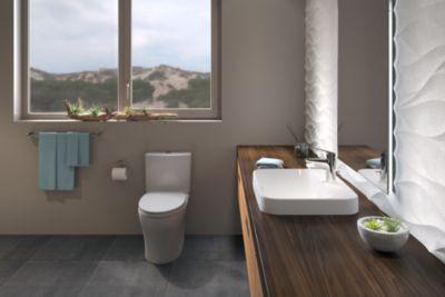 Attirant Aquia® IV 1G Toilet   1.0 GPF U0026 0.8 GPF, Elongated Bowl   WASHLET+  Connection