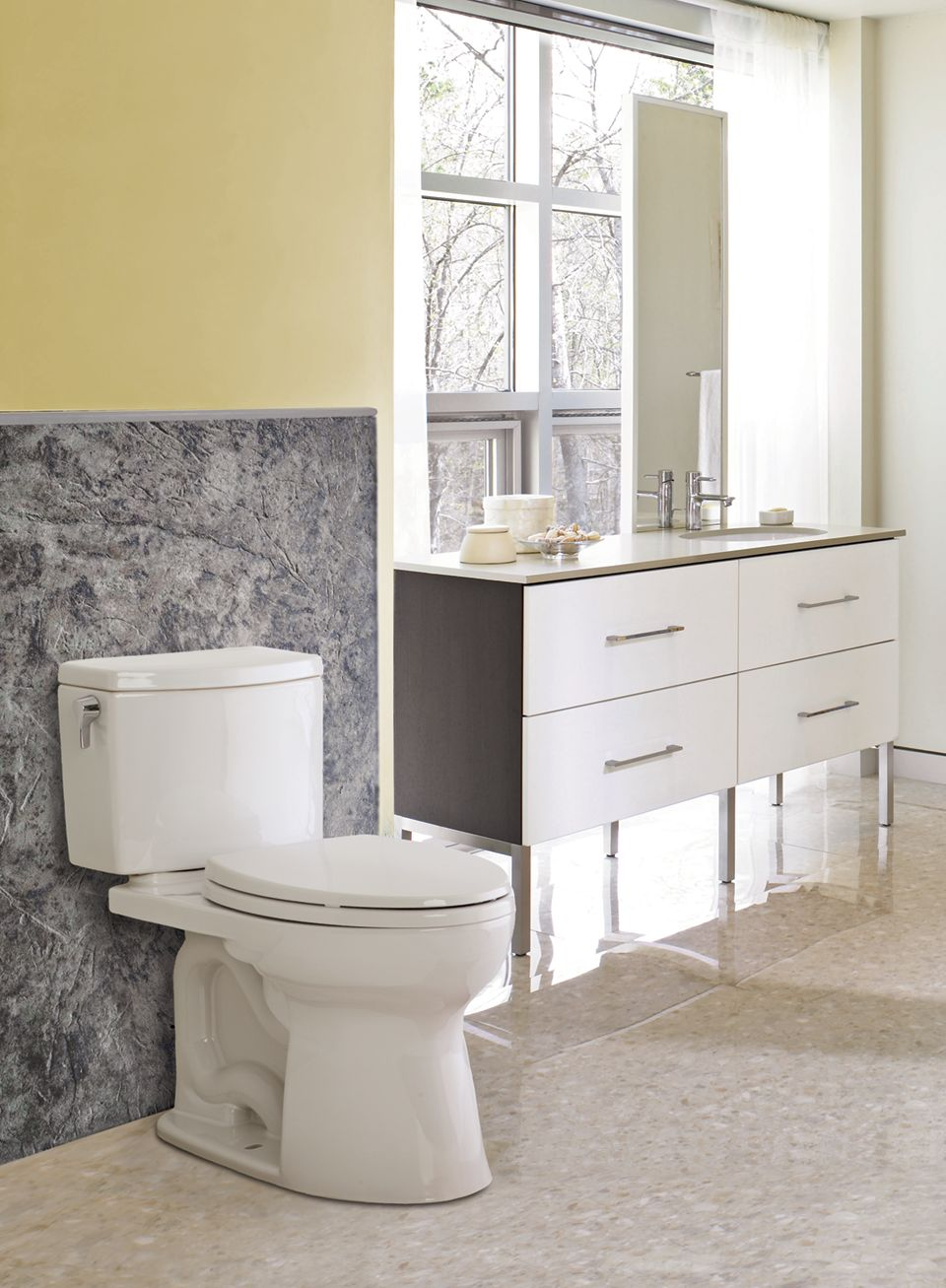 Drake® II Two-Piece Toilet, 1.28 GPF, Elongated Bowl - TotoUSA.com