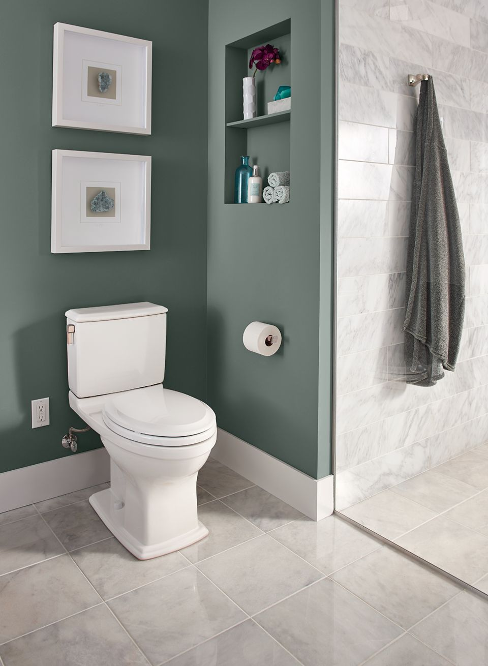 Connelly® Two-Piece Toilet 1.28 GPF & 0.9 GPF, Elongated Bowl ...
