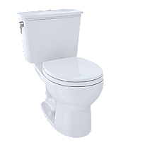 Eco Drake® Transitional Two-Piece Toilet, 1.28 GPF, Round Bowl