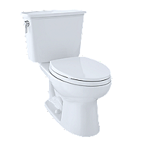 "Eco Drake® Transitional Two-Piece Toilet, 1.28 GPF, 10"" Rough-In, Elongated Bowl"