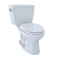 "Drake® Two-Piece Toilet, 1.6 GPF, 10"" Rough-In, Elongated Bowl"