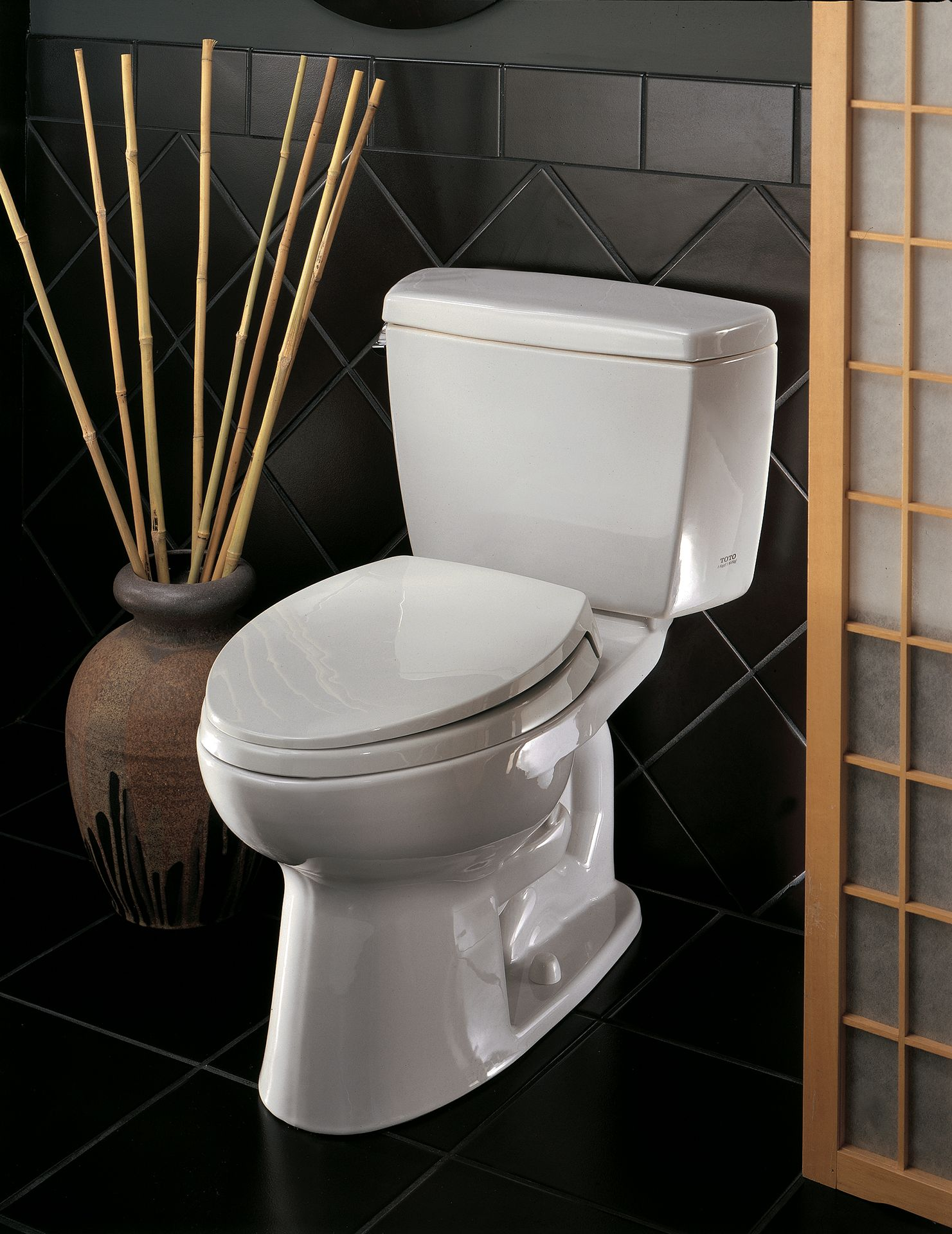 Eco Drake® Transitional Two-Piece Toilet, 1.28 GPF, Elongated Bowl ...