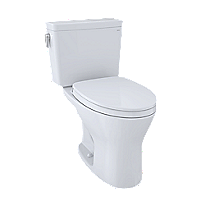 Drake® Two-Piece Toilet, 1.28 GPF & 0.8 GPF Elongated Bowl - Universal Height