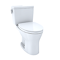 "Drake® Two-Piece Toilet, 1.0 GPF & 0.8 GPF Elongated Bowl - Universal Height - 10"" Rough-In"