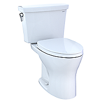 Drake® Two-Piece Transitional Toilet, 1.28 GPF & 0.8 GPF Elongated Bowl - Universal Height