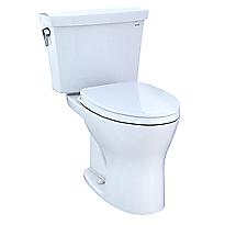 Toilette transitionnelle deux pièces Drake®, cuvette allongée 1,28gpc et 0,8gpc