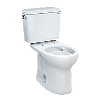 Drake® Two-piece Toilet, 1.28 GPF, Round Bowl - Universal Height