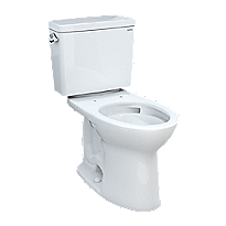 """Drake® Two-piece Toilet, 1.6 GPF, Elongated Bowl - Universal Height - 10"""" Rough-In"""