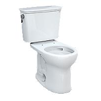 Drake® Transitional Two-piece Toilet, 1.28 GPF, Round Bowl - Universal Height