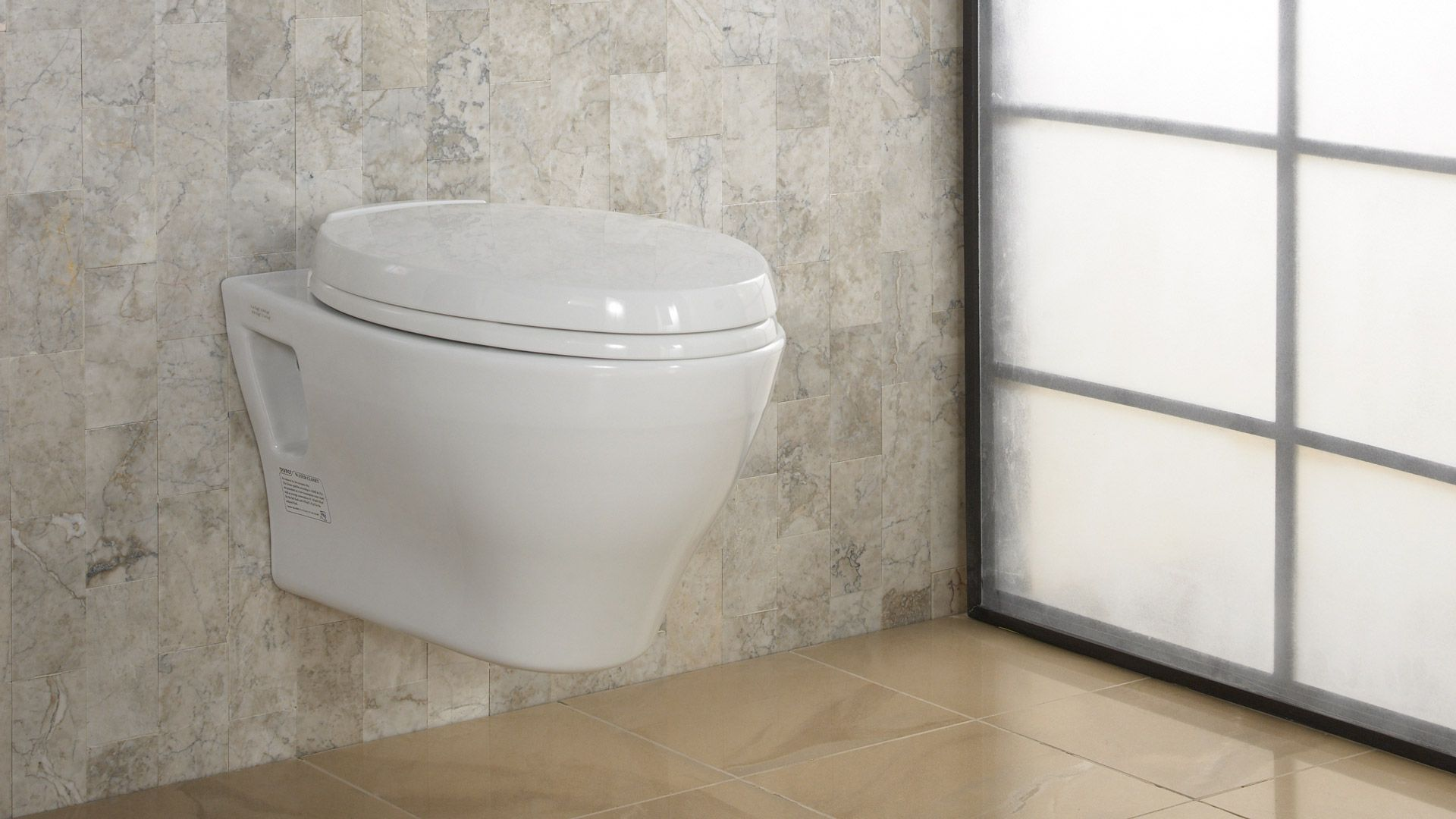 Aquia® Wall-Hung Dual-Flush Toilet, 1.6 GPF & 0.9 GPF, Elongated ...