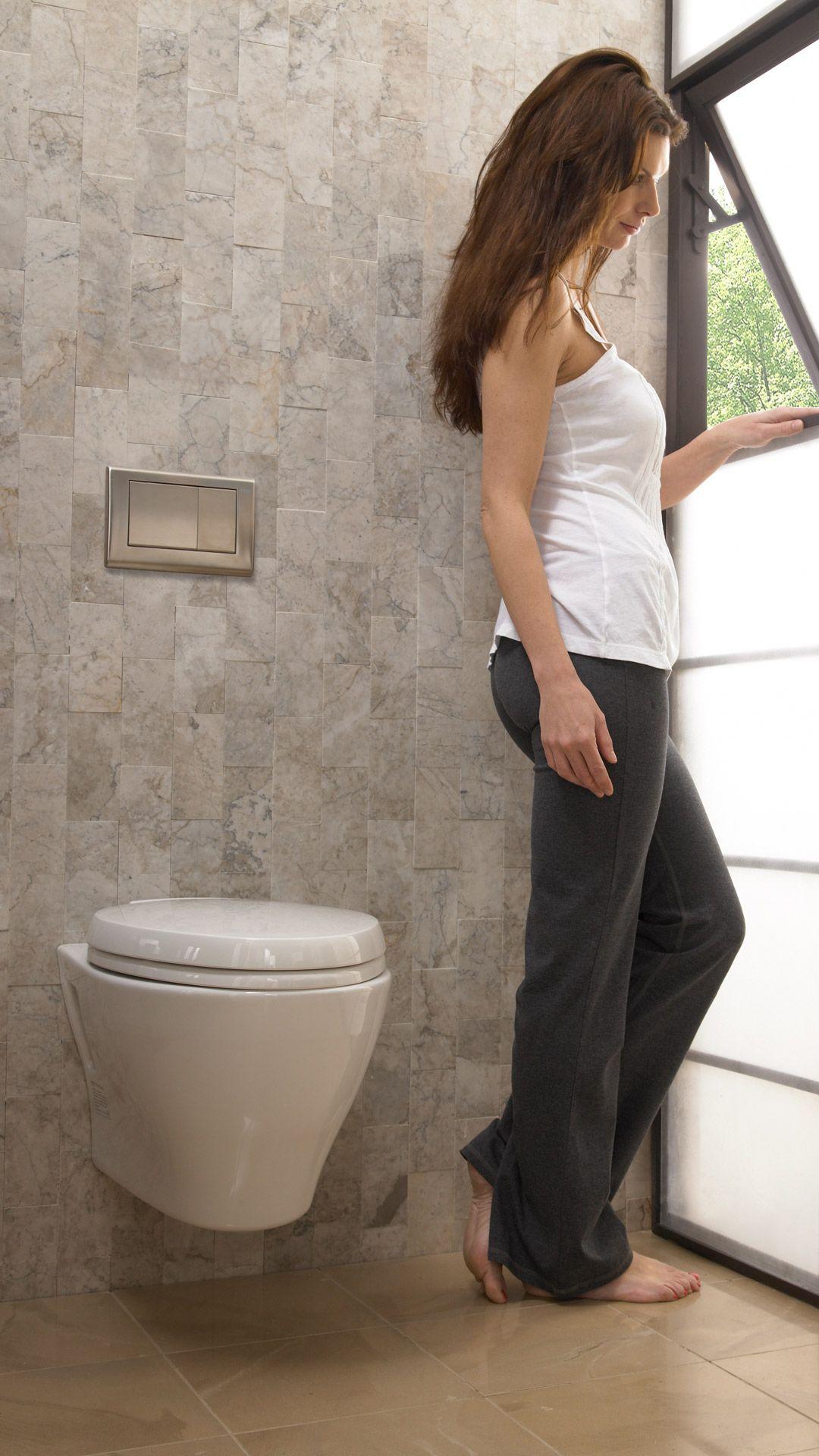 Aquia® Wall-Hung Dual-Flush Toilet, 1.6 GPF & 0.9 GPF, Elongated ...