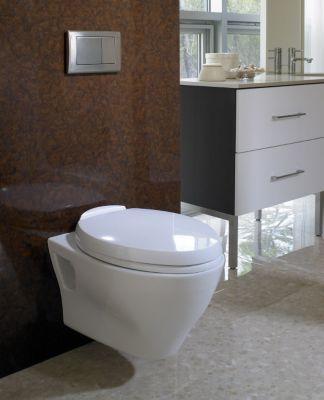 Aquia® Wall Hung Dual Flush Toilet, 1.6 GPF U0026 0.9 GPF, Elongated Bowl