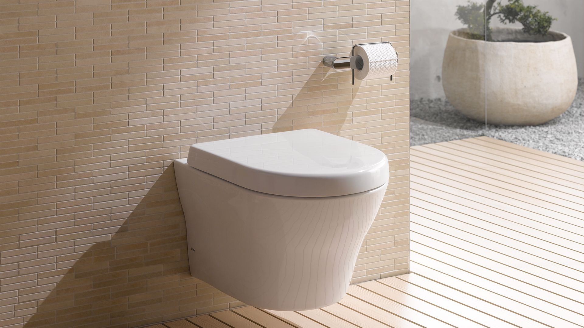 MH® Wall-Hung Dual-Flush Toilet 1.28 GPF & 0.9 GPF D-Shaped Bowl ...