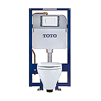Toilette suspendue Aquia® et réservoir encastré DUOFIT™, 1.6 gpc et 0.9 gpc, cuvette allongée