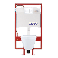 MH® Wall-Hung Toilet & DUOFIT In-Wall Tank System, 1.28 GPF & 0.9 GPF, Elongated Bowl - PEX Supply