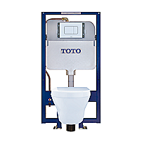 MH® Wall-Hung Toilet & DUOFIT In-Wall Tank System, 1.28 GPF & 0.9 GPF, Elongated Bowl - Copper Supply