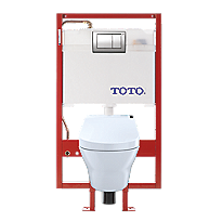 MH WASHLET®+ C200 Wall-Hung Toilet - 1.28 GPF & 0.9 GPF - Copper Supply