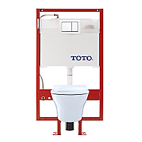MH® Wall-Hung Toilet & DUOFIT In-Wall Tank System, 1.28 GPF & 0.9 GPF, Elongated Bowl - PEX Supply - Slim Seat