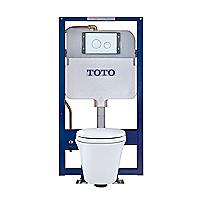 Toilette suspendue Maris® et réservoir encastré Duofit™, 1,6 et 0,9 gpc, cuvette allongée