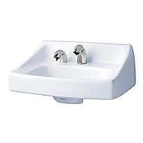 Lavabo commercial suspendu avec trou pour distributeur de savon