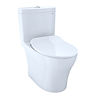 Aquia® IV Toilet - 1.28 GPF & 0.8 GPF, Elongated Bowl - WASHLET+ Connection - Slim Seat