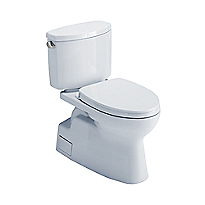 Vespin® II Two-Piece Toilet, Elongated Bowl - 1.28 GPF - WASHLET®+ Connection