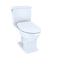Connelly® - Inodoro de dos piezas, 1.28gpd y 0.9gpd, conexión WASHLET®+, asiento delgado