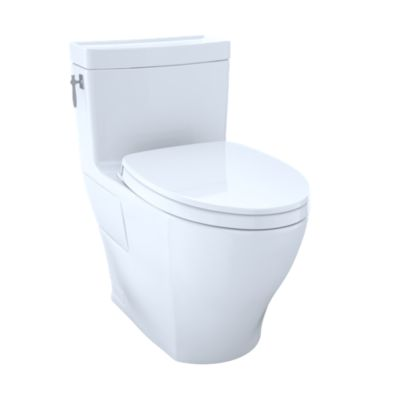 Aimes One Piece Toilet 1 28gpf Elongated Bowl Washlet Connection