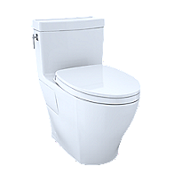 Aimes® One-Piece Toilet, 1.28GPF, Elongated Bowl - WASHLET®+ Connection