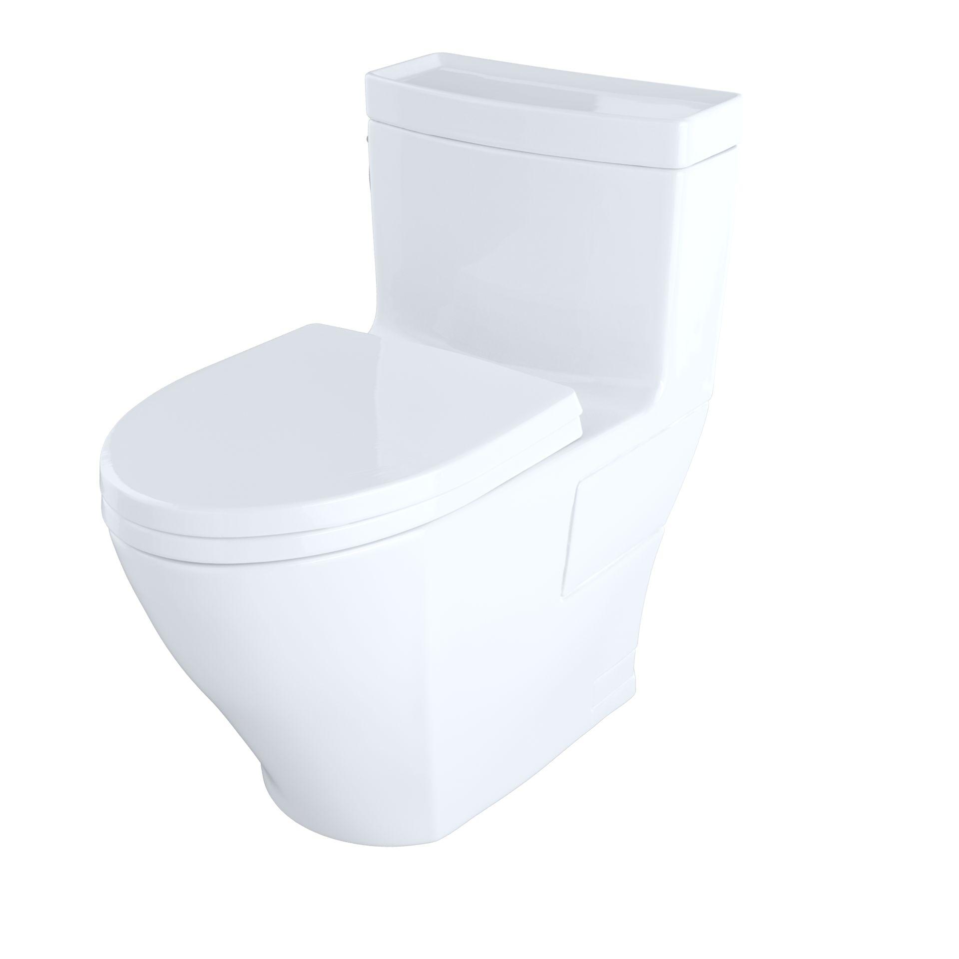 Aimes® One-Piece Toilet, 1.28GPF, Elongated Bowl - Washlet®+ ...
