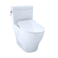 Aimes® One-Piece Toilet, 1.28GPF, Elongated Bowl - WASHLET®+ Connection - Slim Seat