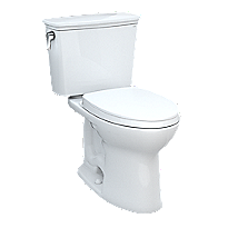 """Drake® Transitional Two-piece Toilet, 1.28 GPF, Elongated Bowl - Universal Height - 10"""" Rough-In"""
