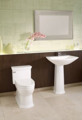 Genial Eco Soirée® One Piece Toilet, 1.28 GPF, Elongated Bowl