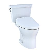 Toilette deux pièces transitionnelle WASHLET® S500e Drake®– 1,28gpc et 0,8gpc–Robinetterie brute 10po