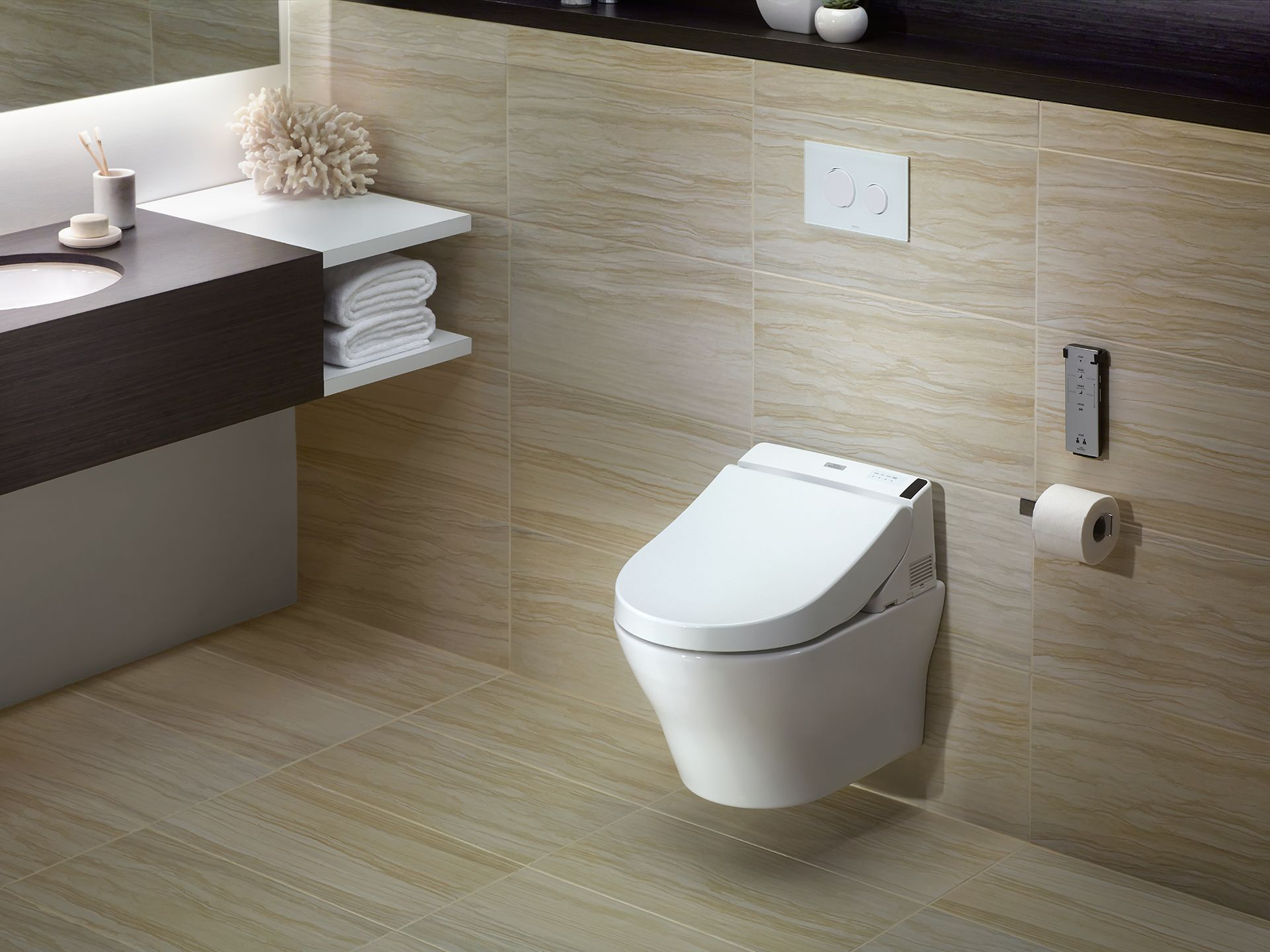 MH® WASHLET®+ C200 Wall-Hung Toilet - 1.28 GPF & 0.9 GPF - Copper ...