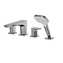 GE - Cargador de tina romana con molduras, cuatro orificios