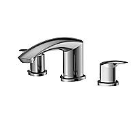 Garniture de robinets de baignoire romaine à trois trous GM
