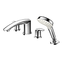 GM - Cargador de tina romana con molduras, cuatro orificios