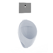 Urinal comercial de ultraalta eficiencia con lavado, 0.125gpd, ADA